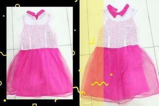 #Pinky Chiffon Dress F9042 #粉色连身裙 #MMAR18