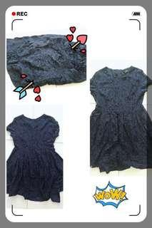 #Navy Blue Dress F9041 #深蓝色连身裙 #everything18