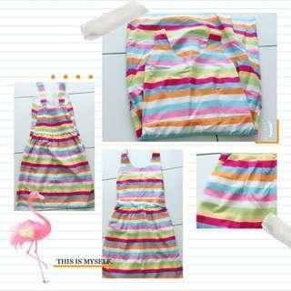 #rainbow dress F9039 #彩虹连身裙 #MMAR18