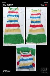 Rainbow Chiffon Dress F9038 #彩虹连身裙 #MMAR18