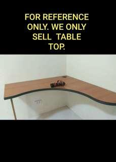 L shape table top only small