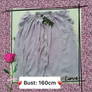 #Simple Purple Chiffon Top F9033 #粉紫色上衣 #MMAR18