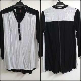 Polka dot long sleeves blouse