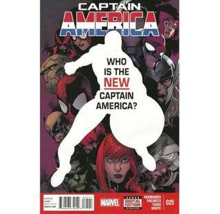CAPTAIN AMERICA #25 (2013) First Sam Wilson as Captain America!