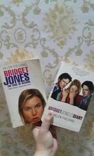 HELEN FIELDING BOOKS - Bridget Jones's Diary and Bridget Jones Diary The Edge of Reason