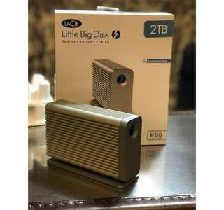 LaCie little big disk 2TB Thunderbolt