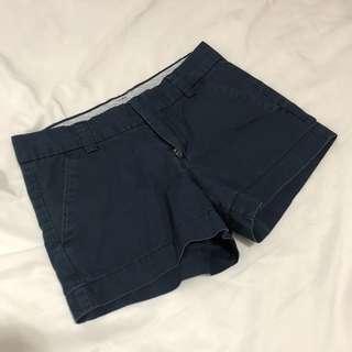 Navy blue walking shorts