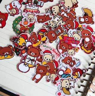 Rilakkuma Christmas Party Planner / Scrapbook Stickers #11