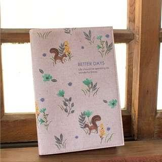 PO Daily Life Teabreak / Better Days Squirrel / Adventure Spirit Illustrated Print Pattern Note Book Notebooks 3 Designs