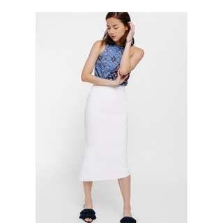 Love Bonito (LB) Kajea Asymmetrical Mermaid Midi Skirt
