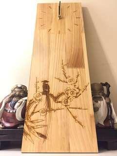 實木簡約風格掛鐘