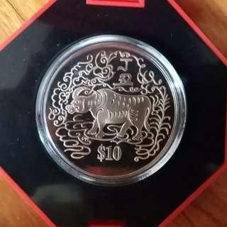 Assorted Chinese New Year Zodiac Singapore $10 Coin