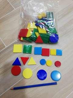 Bag of assorted acrylic shapes