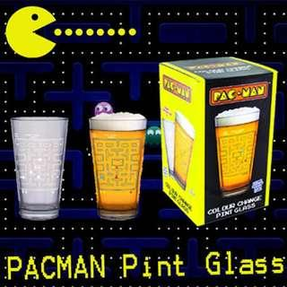 🚚 PACMAN Pint Glass - Colorised when cold drinks is poured it.