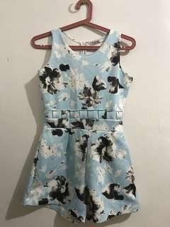Papaya Light Blue Romper
