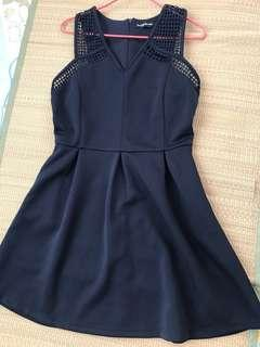 Zalora brand new dark blue dress