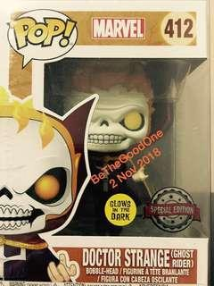 Funko Pop GITD Doctor Strange As Ghost Rider Exclusive  Limited Edition LACC