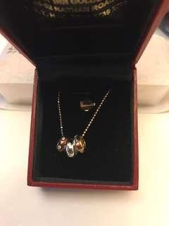 18K鑽石三色頸鏈