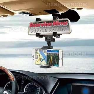 Car Rearview Mirror Mount Holder Universal GPS / Phone Support