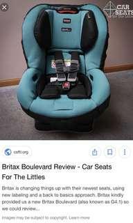 Britax Boulevard car seat