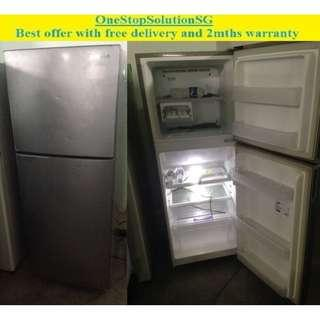 Samsung 198L, 2 doors fridge / refrigerator ($180 + free delivery and 2mths warranty)
