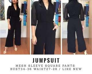 Formal mesh sleeve Jumpsuit