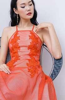 Ohvola Kenya Applique Mesh Dress