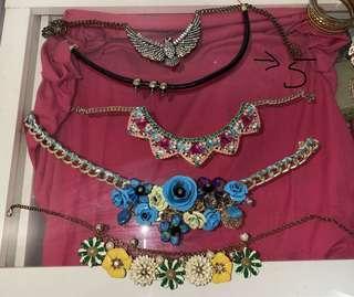 Necklaces bracelets