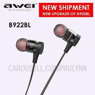 👍👍Awei B922BL Bluetooth Earphone Gym Headphone
