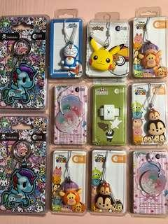 Limited edition brand new nice and cute designs Ezlink charms and Ezlink cards  for sale .