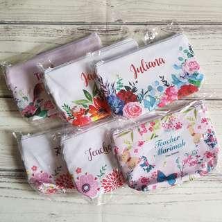 Customize canvas pouch