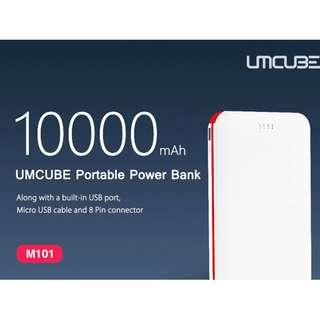 UMCUBE M101 PORTABLE POWER BANK BUILT-IN MICRO USB CABLE