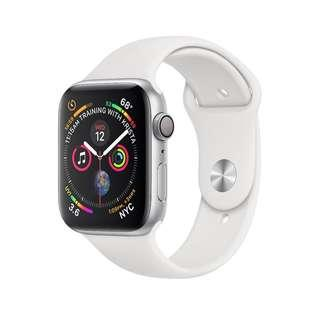 Apple Watch Series 4 - 40mm- Silver Aluminum Case White Sport Band