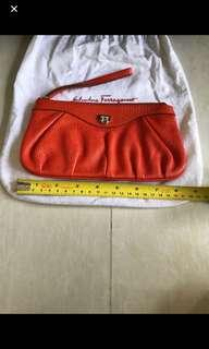💯% Authentic Ferragamo Clutch Bag
