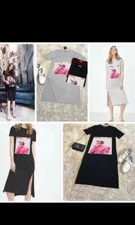 🚚 Midi ulzzang t shirt dress