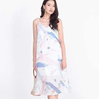 Fayth Palette Printed Slip Dress XS