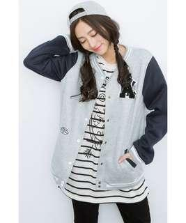 Grey Varsity Jacket