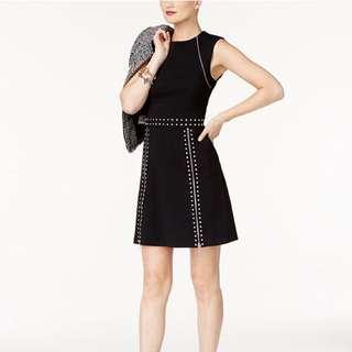 MICHAEL KORS BLACK STUDDED HOLIDAY DRESS