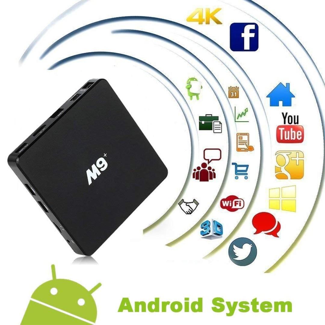 670  M9 Amlogic S905X Cortex A53 64Bit Wifi 4K UHD H 265 Smart TV Box Quad  Core 8GB 1GB, With Mini Wireless Keyboard, Play Games Movies without