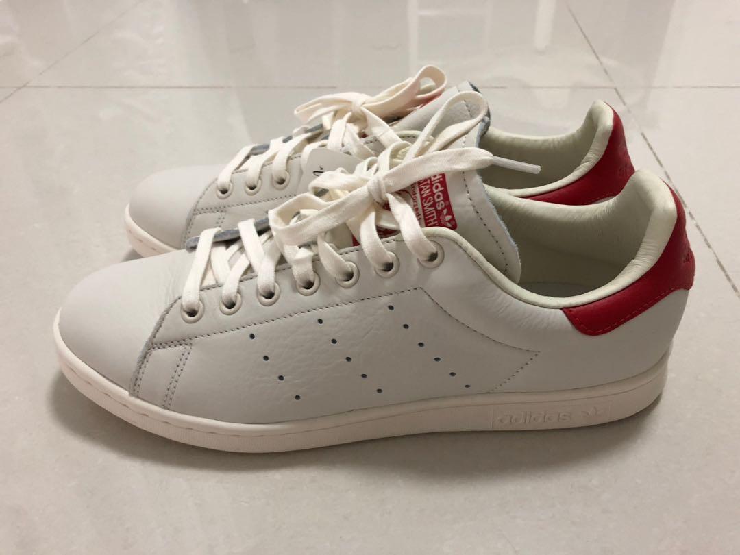 official photos 5ef60 3dab0 Adidas originals stan smith UK9 offwhite and red soft ...