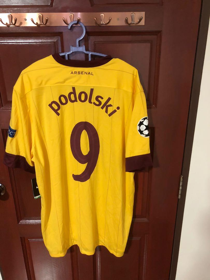 check out 682c1 1bdb1 Arsenal FC 2012 Podolski Champions League Away Jersey ...