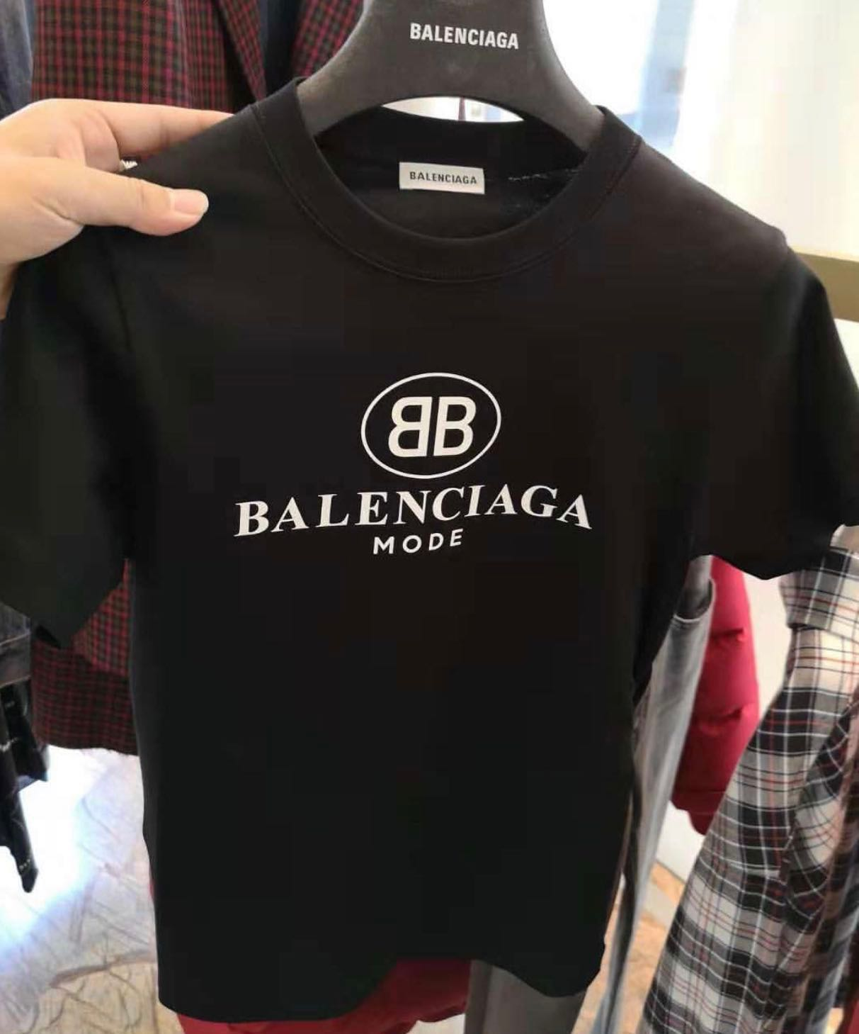 b02692c9b2af 👱 ♀️Authentic Ladies Slim Cut BALENCIAGA Tee, Women's Fashion, Clothes,  Tops on Carousell