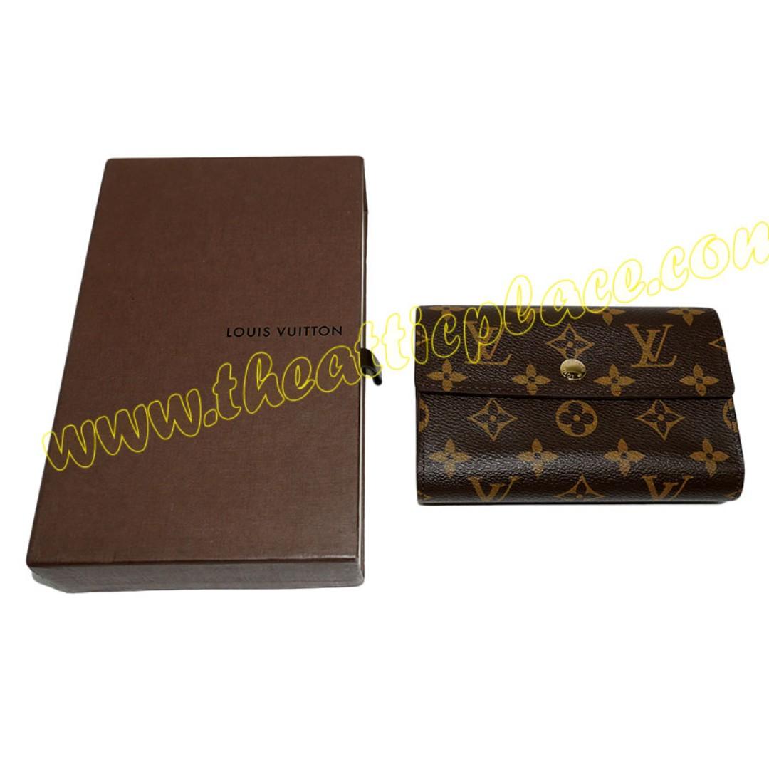 best website 26dfa 14018 Authentic Louis Vuitton M60047 Monogram Tresor Wallet