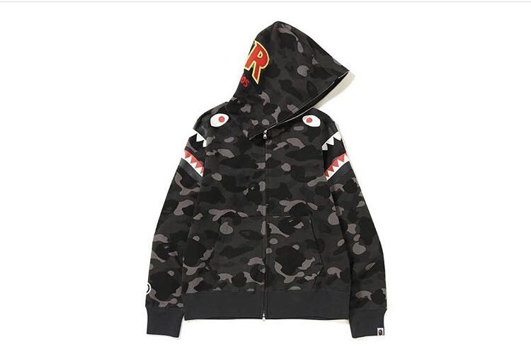 95483f34acb6 Bape color camo double shark full zip hoodie