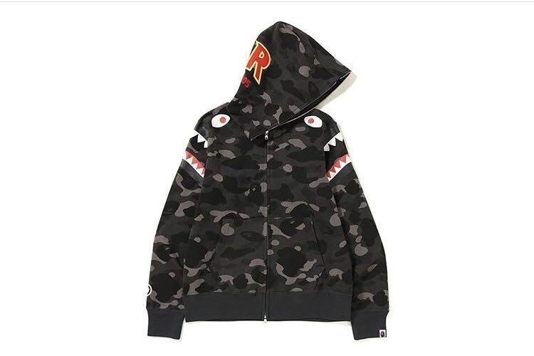 b94e408b143e Bape color camo double shark full zip hoodie