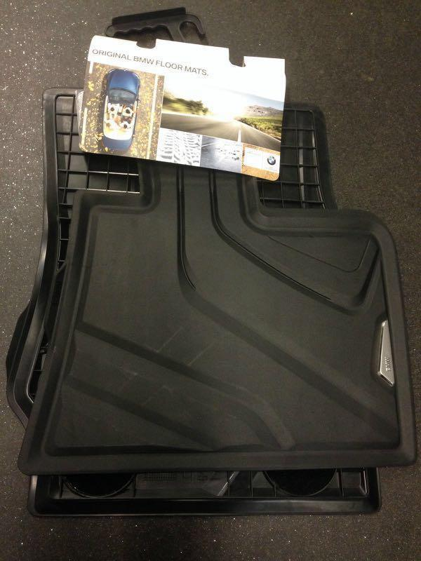 BMW Genuine All Weather Rubber Floor Mats Set Front F25 F26 51472286002