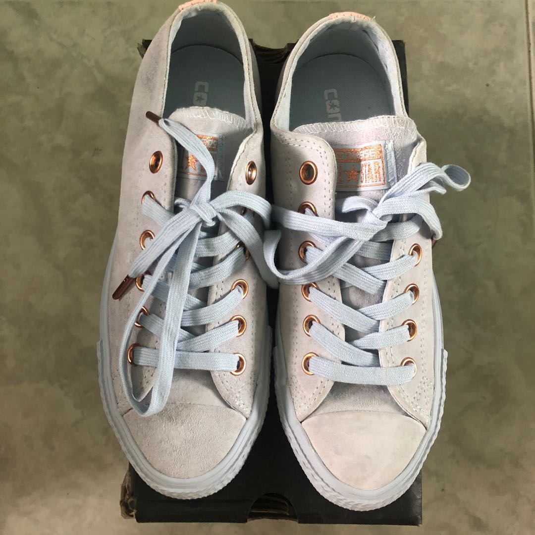 0d7a730a9202c5 BN AUTHENTIC Converse All Star Low Leather  Spring Blossom  Porpoise ...