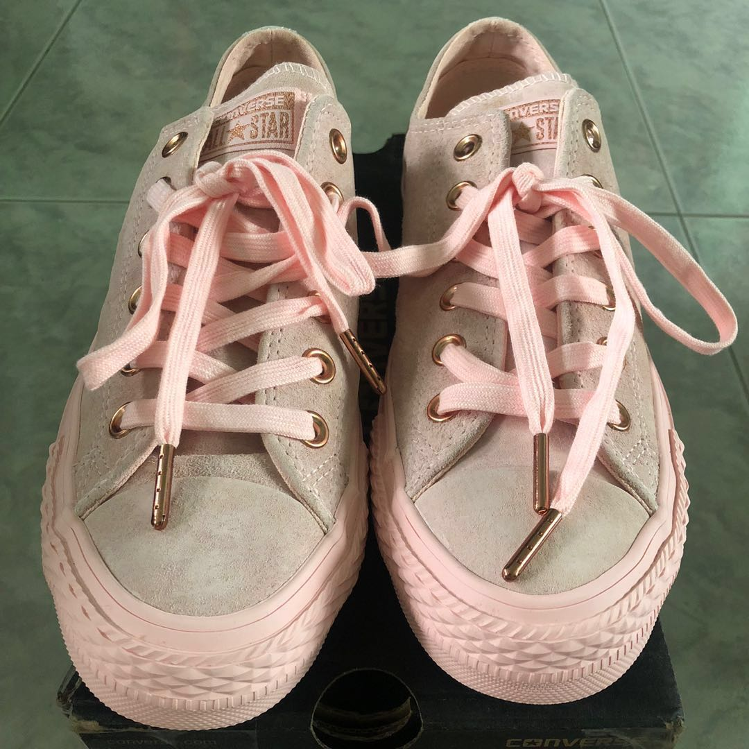 3d11e97fd15a65 BN AUTHENTIC Converse All Star Low Leather  Spring Blossom  Vapour ...