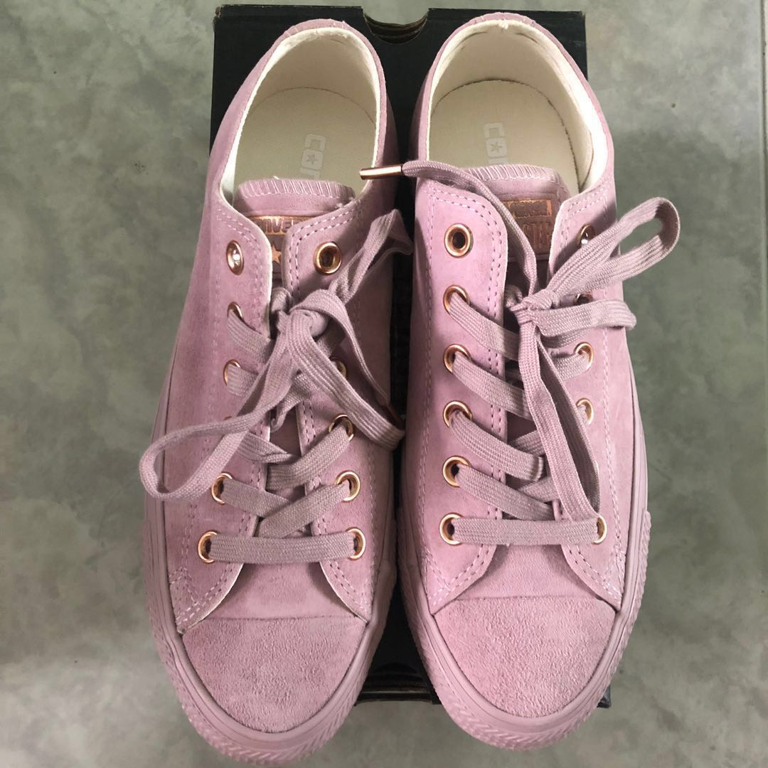 64fa4b36da6a BN AUTHENTIC Converse Women All Star Low Leather Burnished Lilac ...