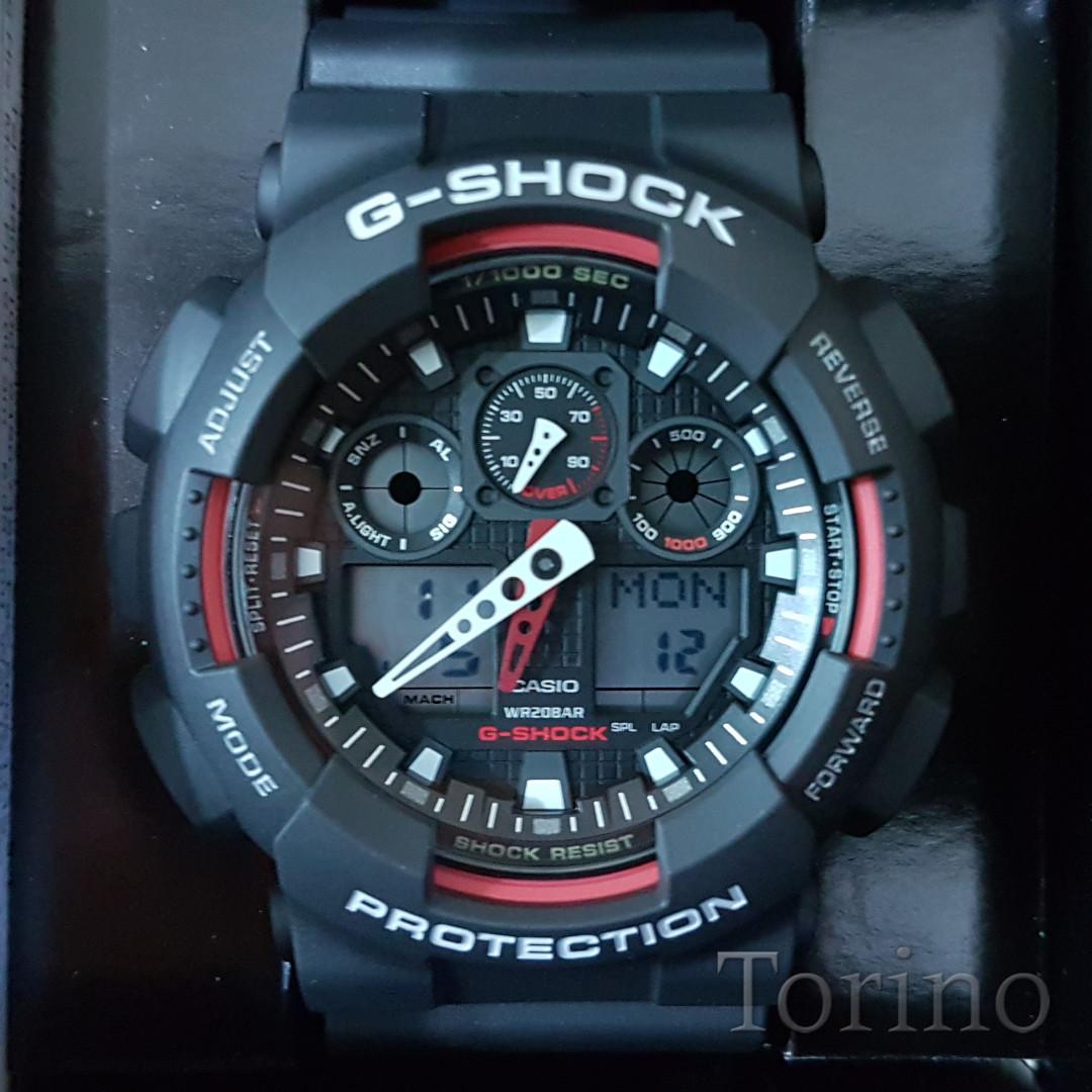 72875c24ec5f CASIO G-SHOCK ANALOG-DIGITAL GA-100-1A4DR Men s Watch